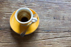 κενό espresso φλυτζανιών στοκ εικόνα