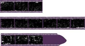 Κενό filmstrip, βρώμικα πλαίσια φωτογραφιών, ελεύθερου χώρου για τις εικόνες Στοκ Φωτογραφία