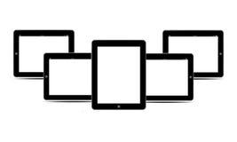 Κενό PC ταμπλετών οθονών μαύρο οριζόντιο Στοκ φωτογραφία με δικαίωμα ελεύθερης χρήσης