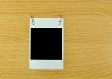 κενό polaroid φωτογραφιών πλαισί&ome Στοκ εικόνες με δικαίωμα ελεύθερης χρήσης