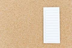 κενό tasklist ειδοποίησης χαρτ&omicr στοκ φωτογραφίες με δικαίωμα ελεύθερης χρήσης