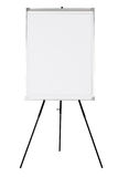Κενό whiteboard στο μαύρο τρίποδο Στοκ Εικόνες