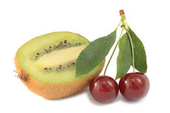 κεράσια kiwifruit Στοκ Εικόνα