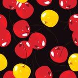 Κεράσι, διανυσματικό άνευ ραφής υπόβαθρο σχεδίων Στοκ Εικόνα