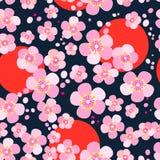 κεράσι ιαπωνικά ανθών απεικόνιση αποθεμάτων