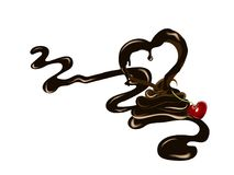 Κεράσι στη σοκολάτα ελεύθερη απεικόνιση δικαιώματος