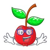 Κεράσι φρούτων Geek επάνω από τον ξύλινο πίνακα χαρακτήρα ελεύθερη απεικόνιση δικαιώματος