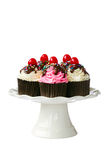 Κεράσι cupcakes Στοκ φωτογραφίες με δικαίωμα ελεύθερης χρήσης