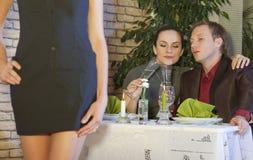 κεράτινο εστιατόριο ατόμ&omeg Στοκ εικόνες με δικαίωμα ελεύθερης χρήσης