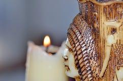 Κερί  Αιγυπτιακοί αριθμοί που χαράσσονται σε το Στοκ εικόνα με δικαίωμα ελεύθερης χρήσης
