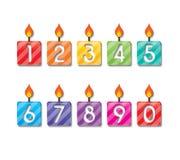 Κερί αριθμού Στοκ Εικόνες