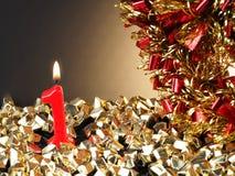 Κερί γενέθλιο-επετείου που παρουσιάζει Nr 1 Στοκ εικόνα με δικαίωμα ελεύθερης χρήσης