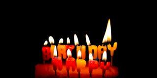 κερί γενεθλίων ευτυχές Στοκ Εικόνα