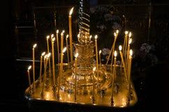 Κερί για την ανάπαυση στην εκκλησία στοκ φωτογραφία με δικαίωμα ελεύθερης χρήσης