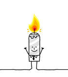 κερί επιχειρηματιών Στοκ Εικόνες