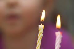 κερί κέικ γενεθλίων Στοκ εικόνα με δικαίωμα ελεύθερης χρήσης
