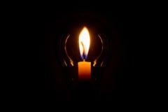 Κερί και λαμπτήρας Στοκ Εικόνες