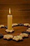 Κερί και μπισκότα Στοκ Φωτογραφίες