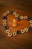Κερί και μπισκότα Στοκ Εικόνα