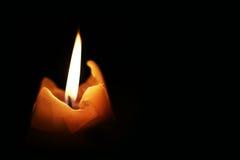 Κερί και σκοτάδι Στοκ Φωτογραφίες