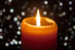 Κερί με το υπόβαθρο bokeh Στοκ εικόνες με δικαίωμα ελεύθερης χρήσης