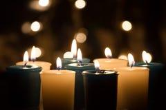 Κερί με το bokeh Στοκ Φωτογραφία