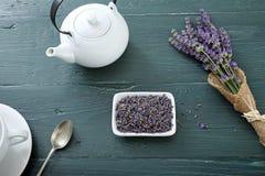 Κερί με lavender Στοκ Εικόνες
