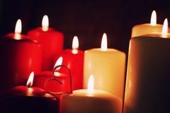 Κερί μορφής καρδιών αγάπης Στοκ Εικόνες