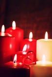 Κερί μορφής καρδιών αγάπης Στοκ Εικόνα