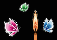 κερί πεταλούδων Στοκ Φωτογραφίες