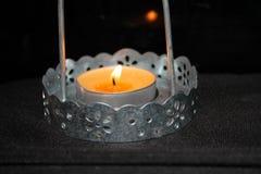 Κερί σε ένα κηροπήγιο Στοκ Φωτογραφίες