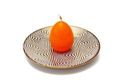 Κερί σε ένα πιάτο Στοκ φωτογραφίες με δικαίωμα ελεύθερης χρήσης