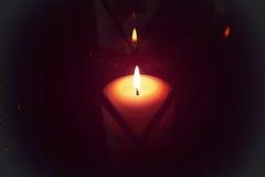 Κερί στη μακροεντολή λαμπτήρων στοκ εικόνες με δικαίωμα ελεύθερης χρήσης