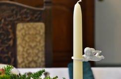 Κερί στον πίνακα Στοκ Εικόνες