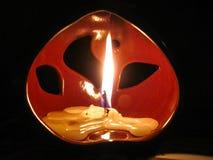 Κερί στο λαμπτήρα αρώματος Στοκ Εικόνα