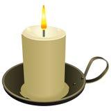 Κερί στο παλαιό κηροπήγιο διανυσματική απεικόνιση