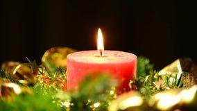 Κερί στο στεφάνι εμφάνισης απόθεμα βίντεο