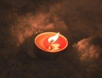 Κερί στο χιόνι Στοκ φωτογραφία με δικαίωμα ελεύθερης χρήσης