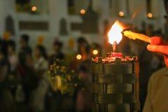 Κερί φωτισμού Στοκ εικόνα με δικαίωμα ελεύθερης χρήσης