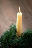 Κερί Χριστουγέννων στοκ εικόνες