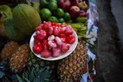 Κερί Apple Jambu, Syzygium samarangense ανανάς, μήλο και φρούτα Στοκ φωτογραφία με δικαίωμα ελεύθερης χρήσης
