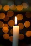 Κερί Bokeh Στοκ Εικόνες