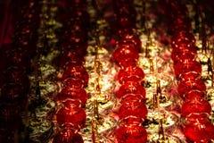 Κερί Lotus με ένα σύντομο χρονογράφημα Στοκ εικόνες με δικαίωμα ελεύθερης χρήσης