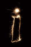 κερί sparkler Στοκ φωτογραφία με δικαίωμα ελεύθερης χρήσης