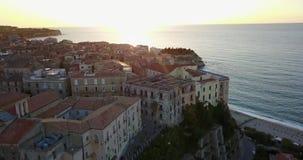 Κεραία, άποψη κηφήνων της πόλης Tropea φιλμ μικρού μήκους