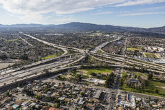 Κεραία ανταλλαγής αυτοκινητόδρομων Χρυσής Πολιτείας 5 και 118 στο Λος Άντζελες Στοκ φωτογραφία με δικαίωμα ελεύθερης χρήσης