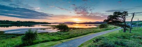 Κεραία ενός καταπληκτικού ηλιοβασιλέματος στη λίμνη Creran, Barcaldine, Argyll Στοκ φωτογραφία με δικαίωμα ελεύθερης χρήσης