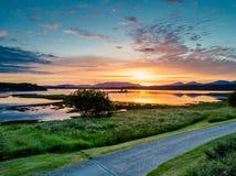 Κεραία ενός καταπληκτικού ηλιοβασιλέματος στη λίμνη Creran, Barcaldine, Argyll Στοκ Εικόνες