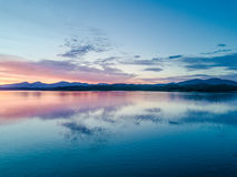 Κεραία ενός καταπληκτικού ηλιοβασιλέματος στη λίμνη Creran, Barcaldine, Argyll Στοκ εικόνα με δικαίωμα ελεύθερης χρήσης