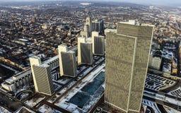 Κεραία κρατικού Plaza αυτοκρατοριών στο στο κέντρο της πόλης Άλμπανυ, Νέα Υόρκη στοκ εικόνα
